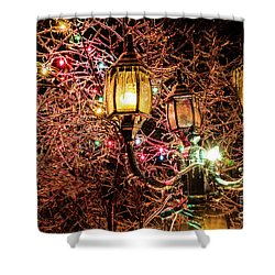 Christmas Lamp Shower Curtain