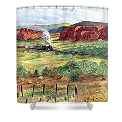 Freight Train From Gallup Shower Curtain