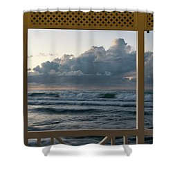 Freighter Off Montego Bay Shower Curtain