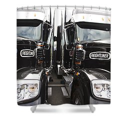 Freightliner Shower Curtain by Alice Gipson