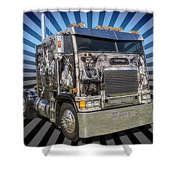 Shower Curtain featuring the photograph Freightliner by Keith Hawley