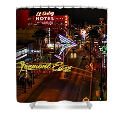 Fremont Street East Shower Curtain