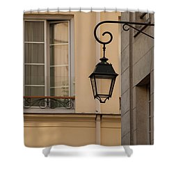 French Alley Lantern Shower Curtain