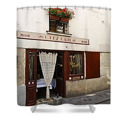 French Bistro Shower Curtain by Perry Van Munster