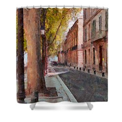 Shower Curtain featuring the photograph French Boulevard by Scott Carruthers