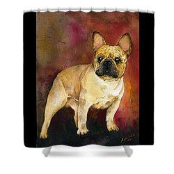 French Bulldog Shower Curtain by Kathleen Sepulveda