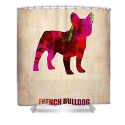 French Bulldog Poster Shower Curtain by Naxart Studio