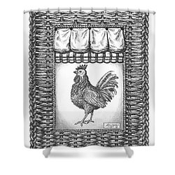 French Country Rooster Shower Curtain by Adam Zebediah Joseph