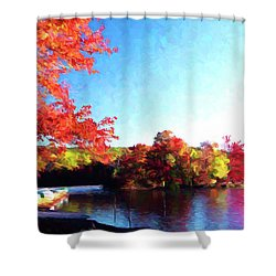 French Creek Fall 020 Shower Curtain by Scott McAllister