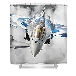 French Dassault Rafale Formation 1 Shower Curtain