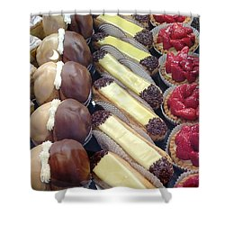 Shower Curtain featuring the photograph French Delights by Therese Alcorn