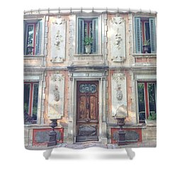 French Door Shower Curtain