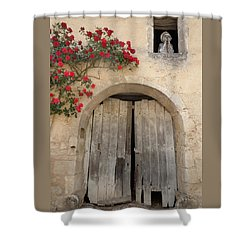 French Doors And Ghost In The Window Shower Curtain by Marilyn Dunlap