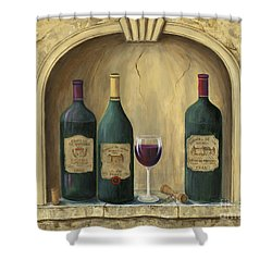 French Estate Wine Collection Shower Curtain by Marilyn Dunlap