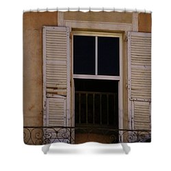 Shower Curtain featuring the photograph French Evening by Rasma Bertz