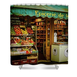 French Groceries Shower Curtain