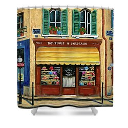 French Hats And Purses Boutique Shower Curtain by Marilyn Dunlap