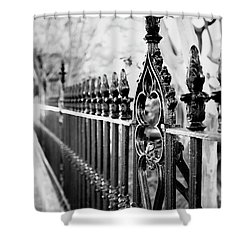 French Huguenot Church Fence Shower Curtain