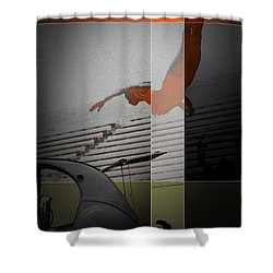 French Kiss Shower Curtain by Naxart Studio