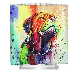 French Mastiff Shower Curtain
