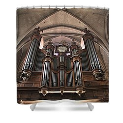 French Organ Shower Curtain by Christin Brodie
