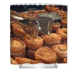 French Pastries Shower Curtain