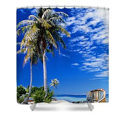 French Polynesia, Beach Shower Curtain by Peter Stone - Printscapes