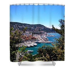 French Port Shower Curtain by Tiffany Marchbanks