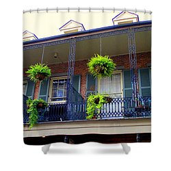French Quarter Balcony Shower Curtain