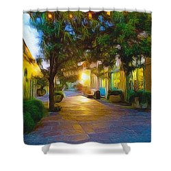 French Quarter Shower Curtain by Paul  Wilford