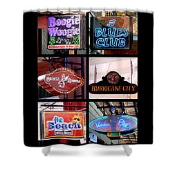 French Quarter Signs Poster Shower Curtain