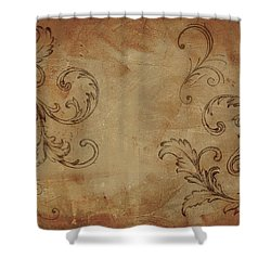 Shower Curtain featuring the painting French Scrolls by Jocelyn Friis