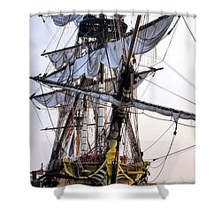 French Tall Ship Hermione  Shower Curtain by John S