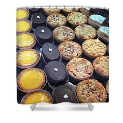 Shower Curtain featuring the photograph French Tarts by Therese Alcorn