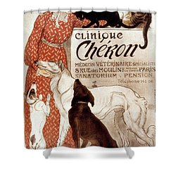French Veterinary Clinic Shower Curtain
