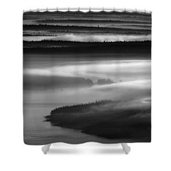 Frenchman's Bay Recursion Shower Curtain