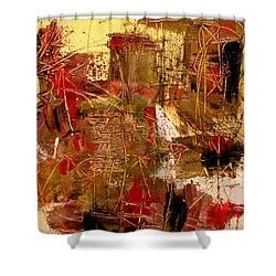 Frequency Shower Curtain by Jody Scott Olson