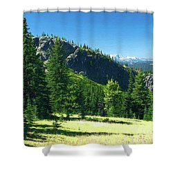 Shower Curtain featuring the photograph Fresh Air In The Mountains Photo Art by Sharon Talson