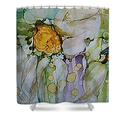 Fresh As A Daisy Shower Curtain by Ruth Kamenev