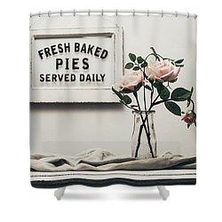 Fresh Baked Shower Curtain by Kim Hojnacki