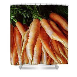 Fresh Carrots From The Summer Garden Shower Curtain