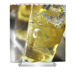 Shower Curtain featuring the photograph Fresh Drink With Lemon by Carlos Caetano