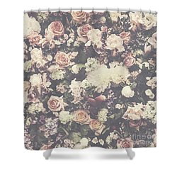 Fresh Flower Pattern Background Shower Curtain