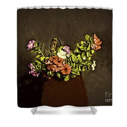 Shower Curtain featuring the photograph Fresh Flowers  ... by Chuck Caramella