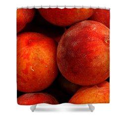 Fresh Fuzzy Peaches Shower Curtain