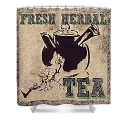 Fresh Herbal Tea Shower Curtain