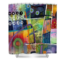 Shower Curtain featuring the painting Fresh Jazz by Hailey E Herrera