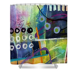 Fresh Jazz In A Square 2 Shower Curtain by Hailey E Herrera