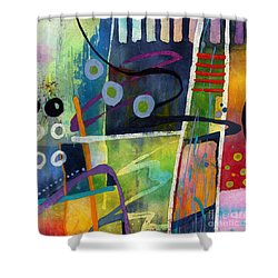 Fresh Jazz In A Square Shower Curtain by Hailey E Herrera