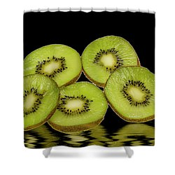 Fresh Kiwi Fruits Shower Curtain by David French